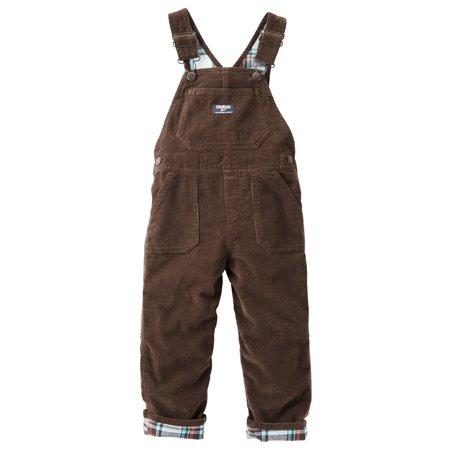Brown Corduroy Boys Overalls - OshKosh B'gosh Baby Boys Flannel-Lined Corduory Overalls Brown