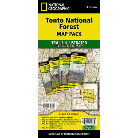National Geographic Trails Illustrated Map: Tonto National Forest [map Pack Bundle] - Folded Map