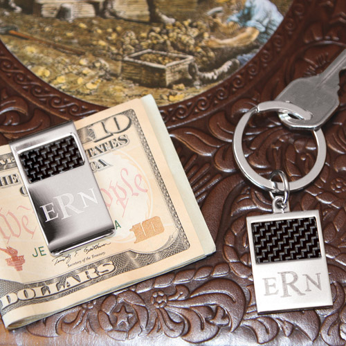 Personalized Key Ring and Money Clip Combo