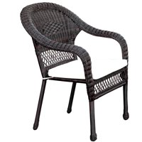 Furniture of America Villacorta Patio Chair, Brown and Ivory