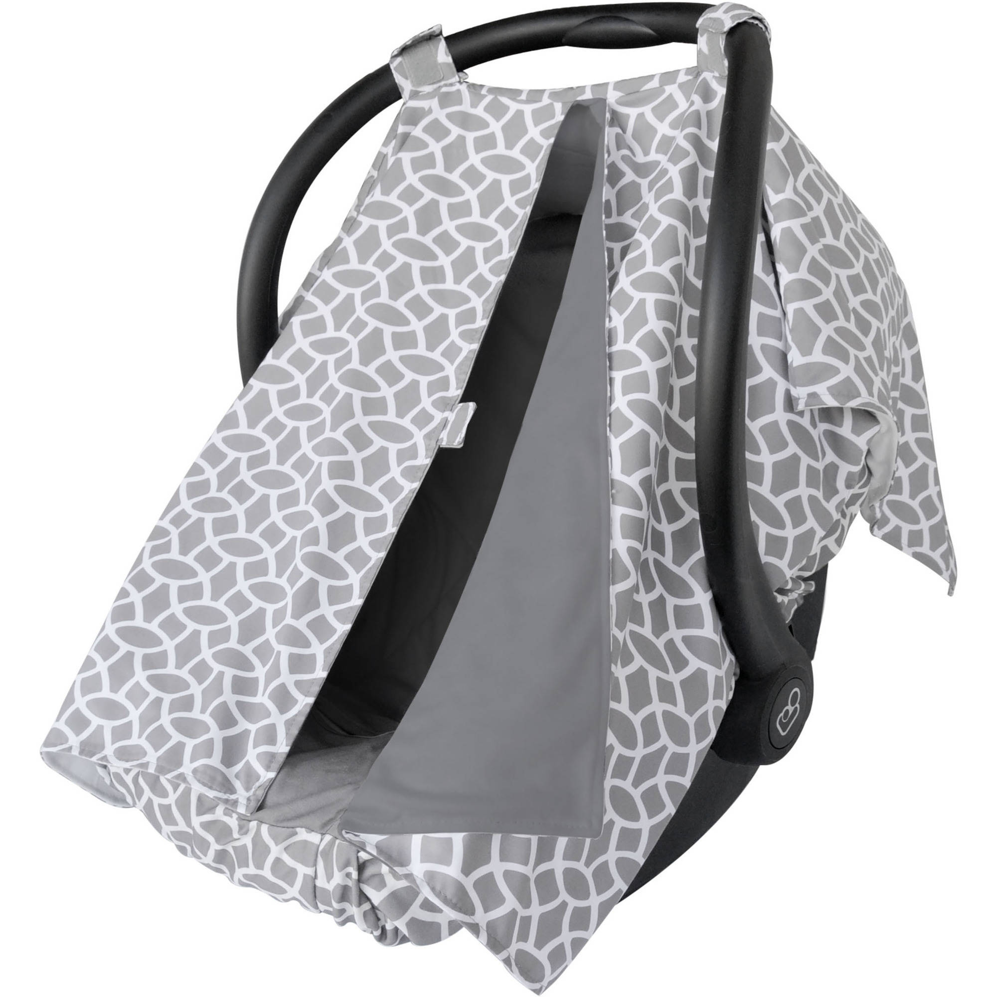 On the Goldbug Infant Car Seat Canopy Cover and Liner Set, Grey