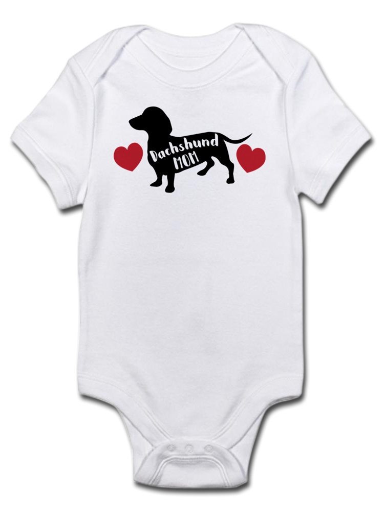 Dachshunds in Christmas Sweaters Baby Onesie Organic Cotton Cool Soft Newborn Long Sleeve Bodysuit