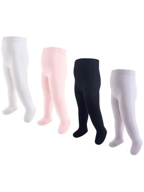 Cable Knit Cotton Tights 4pk (Baby Girls)