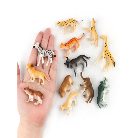 Childrens Artistic Toys (12pc Kids Childrens Assorted Plastic Toy Wild Animals Jungle Zoo Figure)
