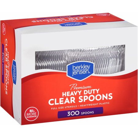 Product of Berkley Jensen Plastic Spoons, 300 ct. - Clear - Utensils [Bulk Savings]