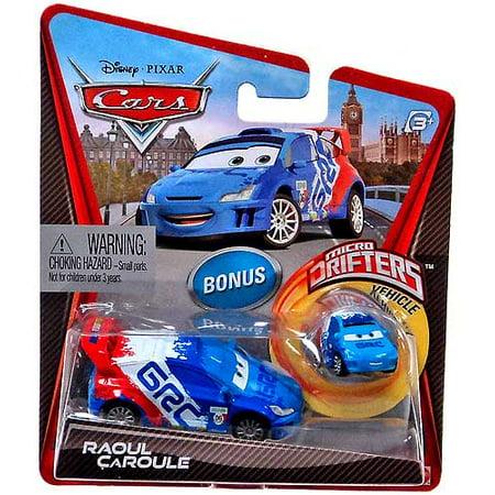 Drifter Cap - Disney Cars Micro Drifters Raoul Caroule 1:55 Diecast Car [With Micro Drifter]
