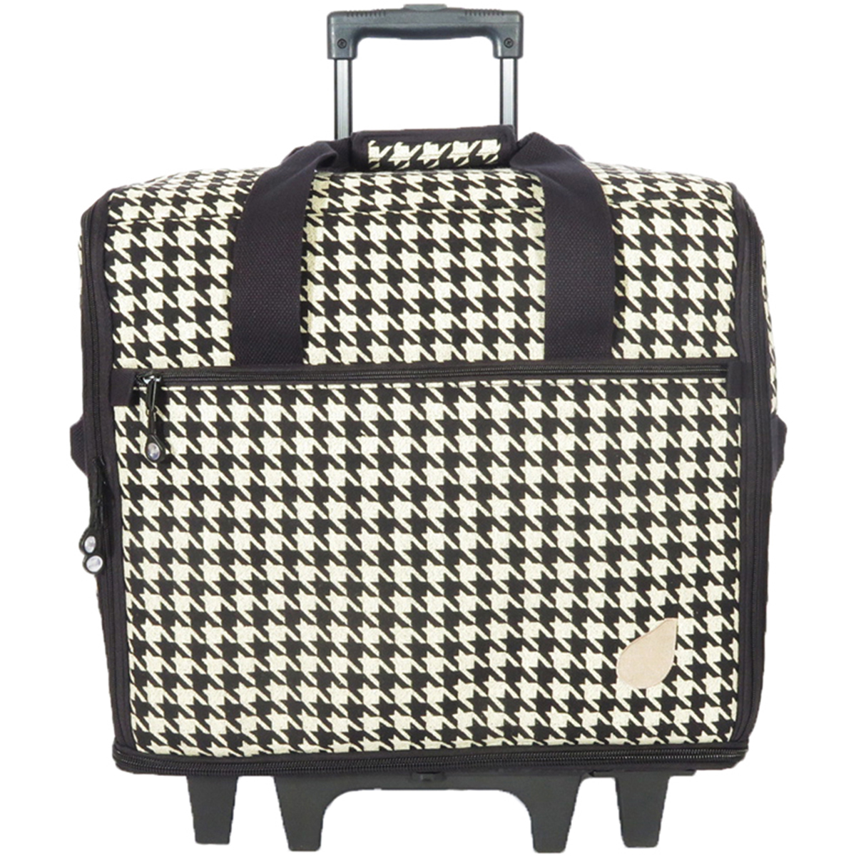 "19"" Wheeled Sewing Machine Bag Designer Series 19.25""X14""X9""-Ebony - Black Houndstooth"