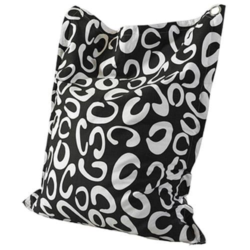 Powell 199-B012 Bean Bag in Black & White