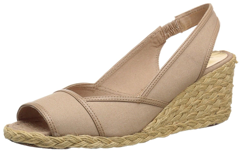 Lauren Ralph Lauren womens nude espadrille wedge sandals