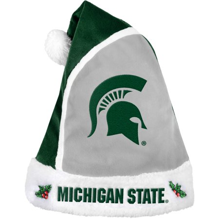 Forever Collectibles NCAA 2015 Santa Hat, Michigan State Spartans