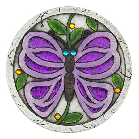 Purple Butterfly Garden Stepping Stone  - image 1 of 1