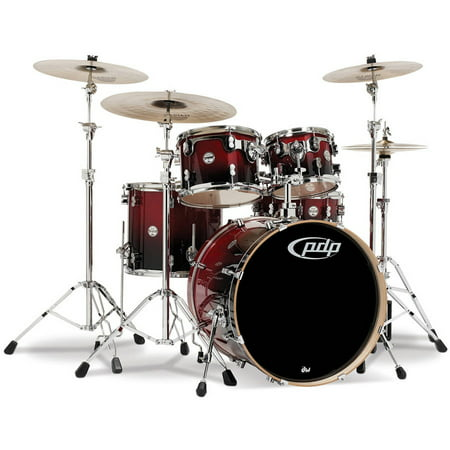 Pacific Drums CM5 Concept Maple 5-Piece Shell Pack - Red Black (Pacific Shells)