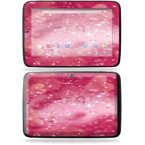"Mightyskins Protective Skin Decal Cover for Samsung Google Nexus 10 Tablet with 10"" screen wrap sticker skins Pink Diamonds"