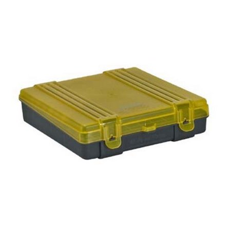 Plano 100-Count Handgun Ammo Box with Hinged Cover, 45 Govt/40 Cal/10mm