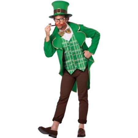 Lucky Leprechaun Costume California Costumes 1306 Green/Brown - Leprechaun Costume Adult