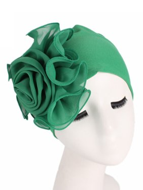 Womens Big Flower Muslim Cancer Chemo Hats Turban Cap Cover Hair Loss Head Scarf