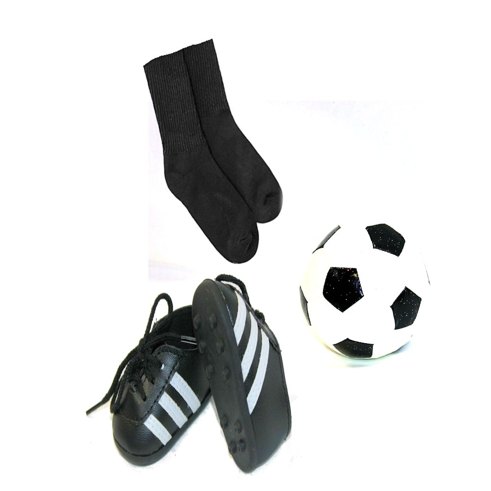 Arianna Soccer Cleats, Socks & Ball Fits 18 inch Dolls