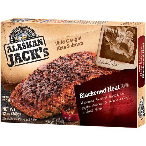 Frontier Harvest Alaskan Jack's Blackened Heat Rub Keta Salmon, 2 count, 12 oz