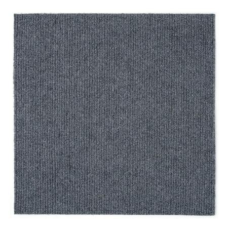 Serenity Home 12x12 Self Adhesive Carpet Floor Tile - 12 Tiles/12 sq - Couple Tile Box
