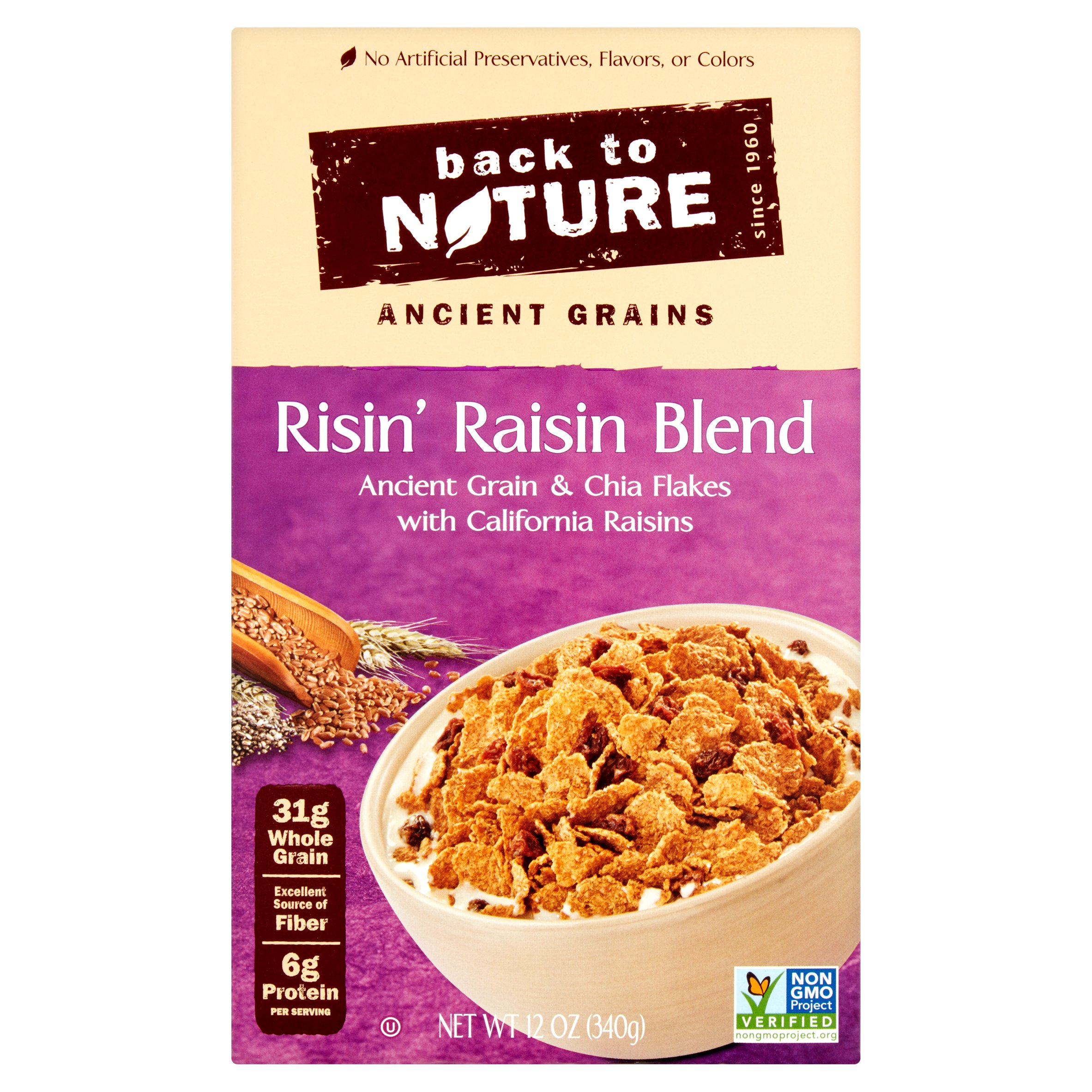 Back to Nature Cereal Risin' Raisin Blend, 12.0 OZ