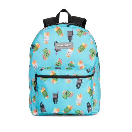 Minecraft Enemy Blue All Over Toss Print Backpack