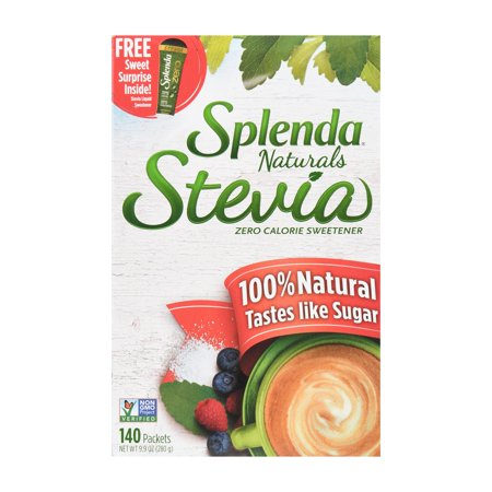 - Splenda Naturals Stevia Sweetener, 140ct Box, Packets
