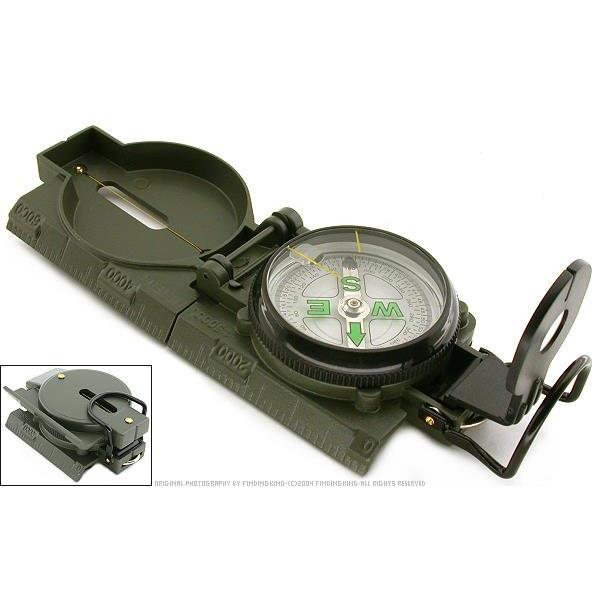 Military Folding Lensatic Compass Scale Hiking Tool