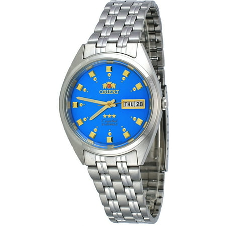 - Orient FAB00009L Men's Classic 3 Star Stainless Steel Blue Dial Automatic Watch