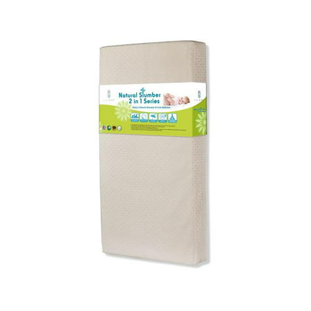 Baby's Natural Slumber III2 in i Crib Mattress with Cool Gel Memory Foam and Seamless
