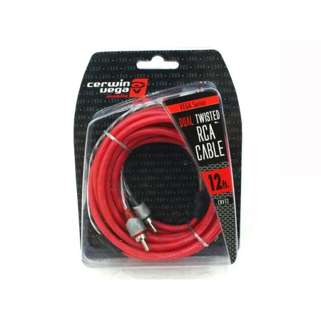 Cable Molded Ends - 2-channel 12 Foot Dual Molded Ends Rca Stereo Audio Cable Red Rca Stereo Cable