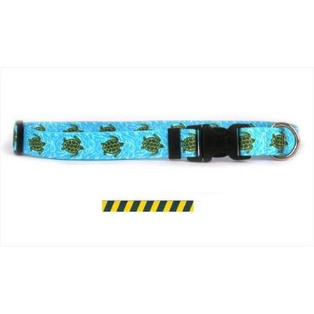 Yellow Dog Design Tsgg102m Team Spirit Green And Gold Standard Collar   Medium