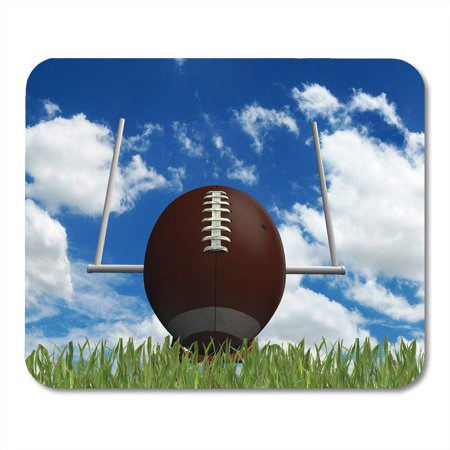 KDAGR School Brown Field Football Ball on Green Grass Red High American Mousepad Mouse Pad Mouse Mat 9x10
