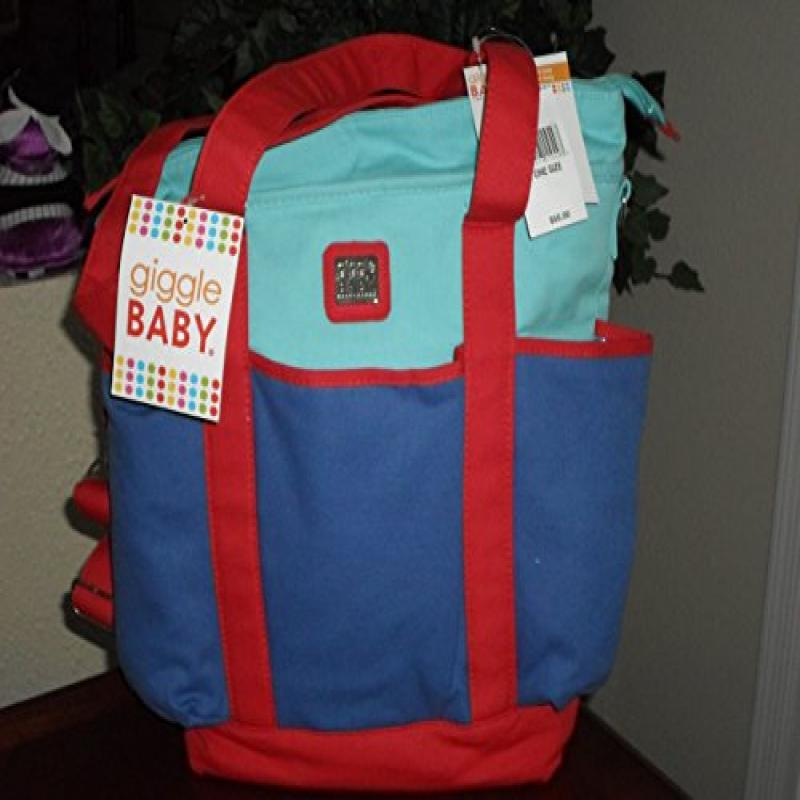 Baby Boom Giggle Baby Beach Tote Diaper Bag (Blue & Red) by Baby Boom
