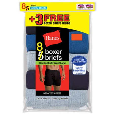 Hanes Mens Bonus Packs Comfortsoft Waistband Boxer Brief 5 Pack   Get 3 Free