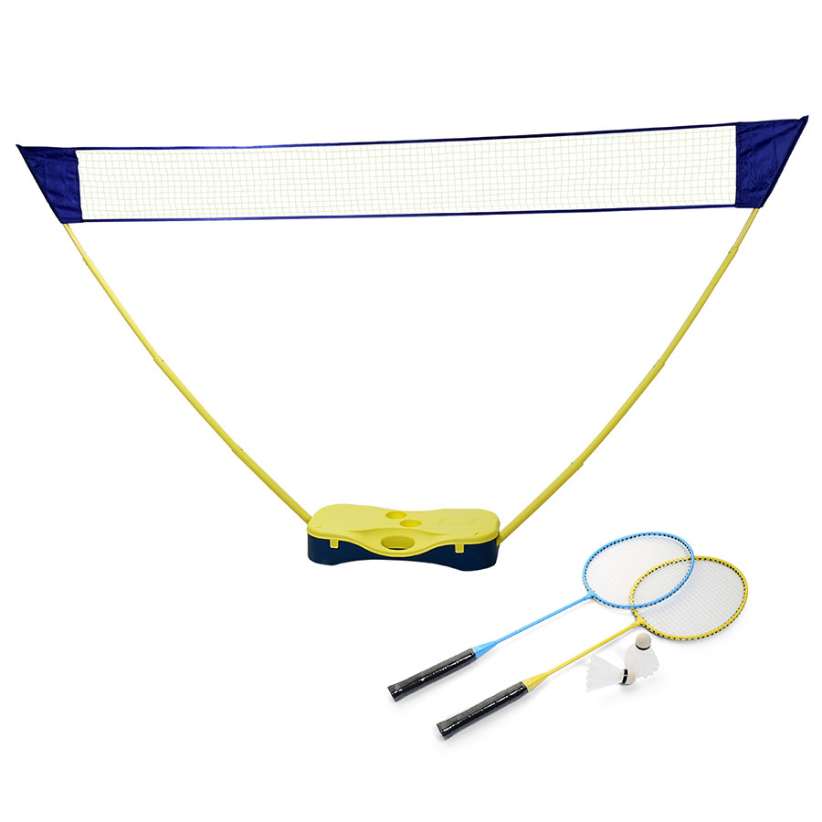 HLC 3 in 1 Junior Outdoor Portable Badminton Set,Tennis,Badminton, Volleyball Net with Stand, Battledore