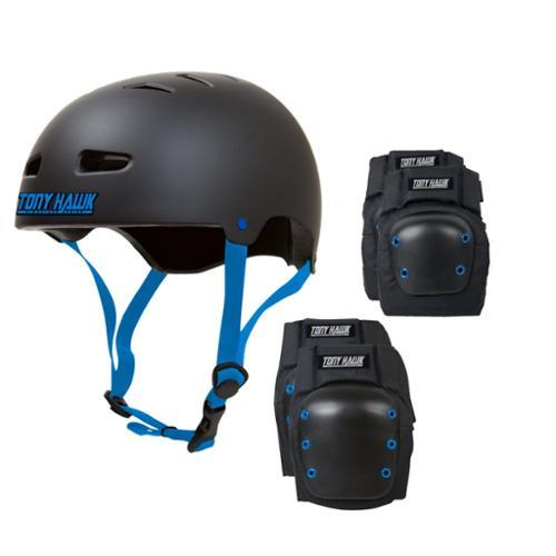 TONY HAWK Skateboard Helmet Elbow/Knee/ Pad Combo ADULT MEDIUM Bmx Inline CPSC