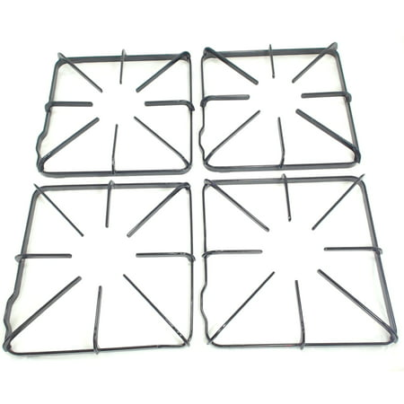 WB31K10012, Gas Range Burner Grate 4 Pack replaces GE, Hotpoint