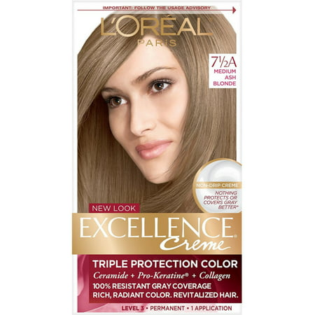 L'Oreal Paris Excellence Cr?me Permanent Hair Color, 7.5A Medium Ash Blonde 1 ea](Ava Blonde)