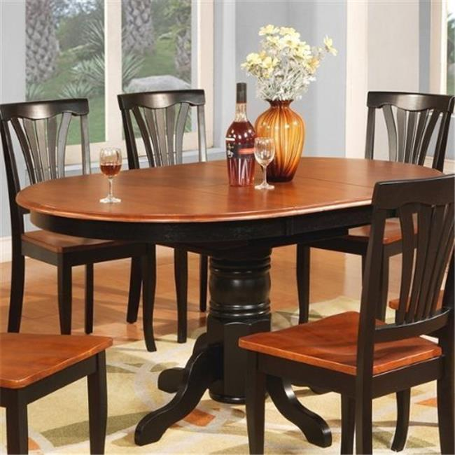 Wooden Imports Furniture AVON11-T-BL&CH Avon Oval Table With 18 in. Butterfly leaf - Black and Cherry Finish.