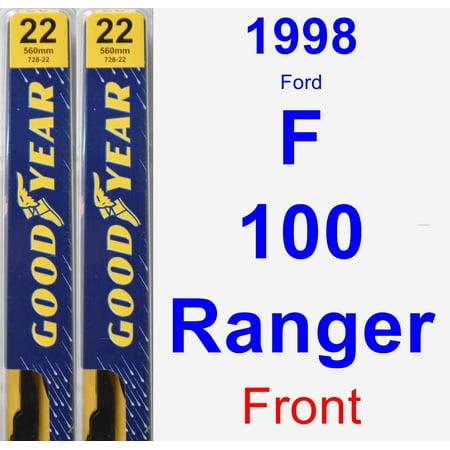 (1998 Ford F-100 Ranger Wiper Blade Set/Kit (Front) (2 Blades) - Premium)
