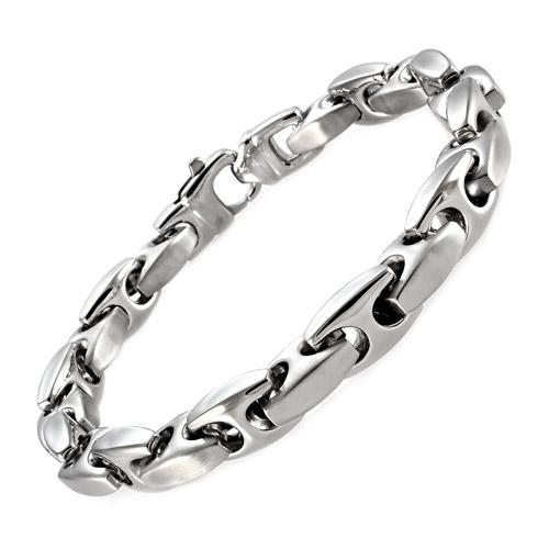 "Stainless Steel Mariner Link Bracelet, 9"""