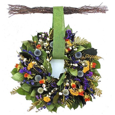 Dried Flowers and Wreaths LLC Echinops Wreath with Hanger