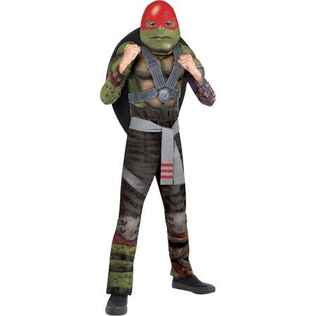 Cool Teenage Costumes For Halloween (Amscan Teenage Mutant Ninja Turtles 2 Raphael Halloween Muscle Costume for Boys, Medium, with Included)