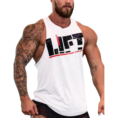 Men Gym Muscle Sleeveless Shirt Tank Tops Sport Bodybuilding Fitness Vest for $<!---->