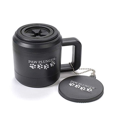 Paw Plunger for Dogs - Portable Dirty Paw Washer for Small Sized Dogs – Ideal for Dogs up to 15lbs – Cleaner Pet Paws to Save Floors / Furniture / Carpet / Vehicle from Muddy Paw Prints - Black - image 2 de 2