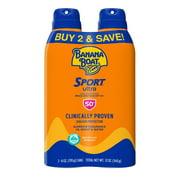 Banana Boat Ultra Sport Sunscreen Spray SPF 50+, 12 oz, Twin Pack