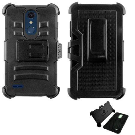 promo code 09719 64b96 Phone Case for LG Phoenix Plus X410as (AT&T)/ LG K30 / LG Premier Pro 4G  LTE L413DL / LG Harmony 2 Combo Holster Cover Kickstand ( Hoslster Black  Edge ...