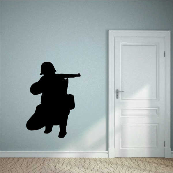 Soldier Wall Decal - Vinyl Decal - Car Decal - Vd007 - 36 Inches