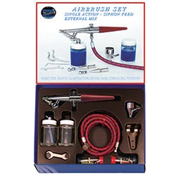 Paasche Single Action Airbrush Set - all three (Paasche Siphon)