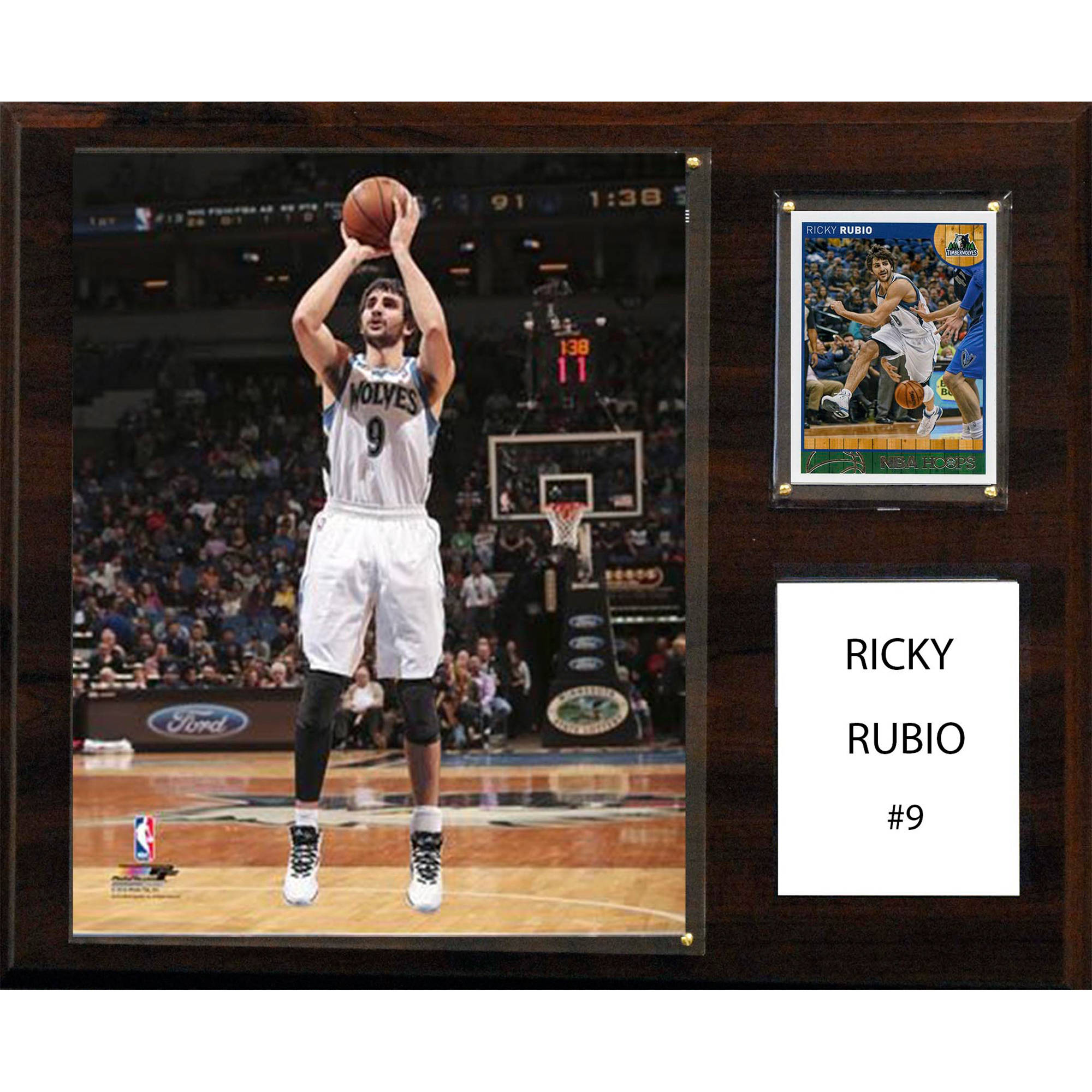 C&I Collectables NBA 12x15 Ricky Rubio Minnesota Timberwolves Player Plaque